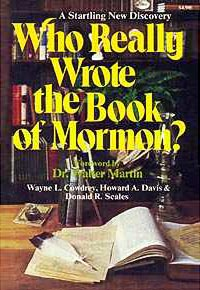 Who wrote the title page of the book of mormon